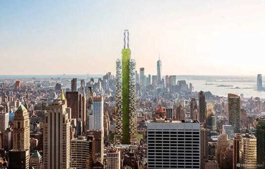 So hätte das Empire State Building entworfen in nachhaltiger Architektur aussehen können.