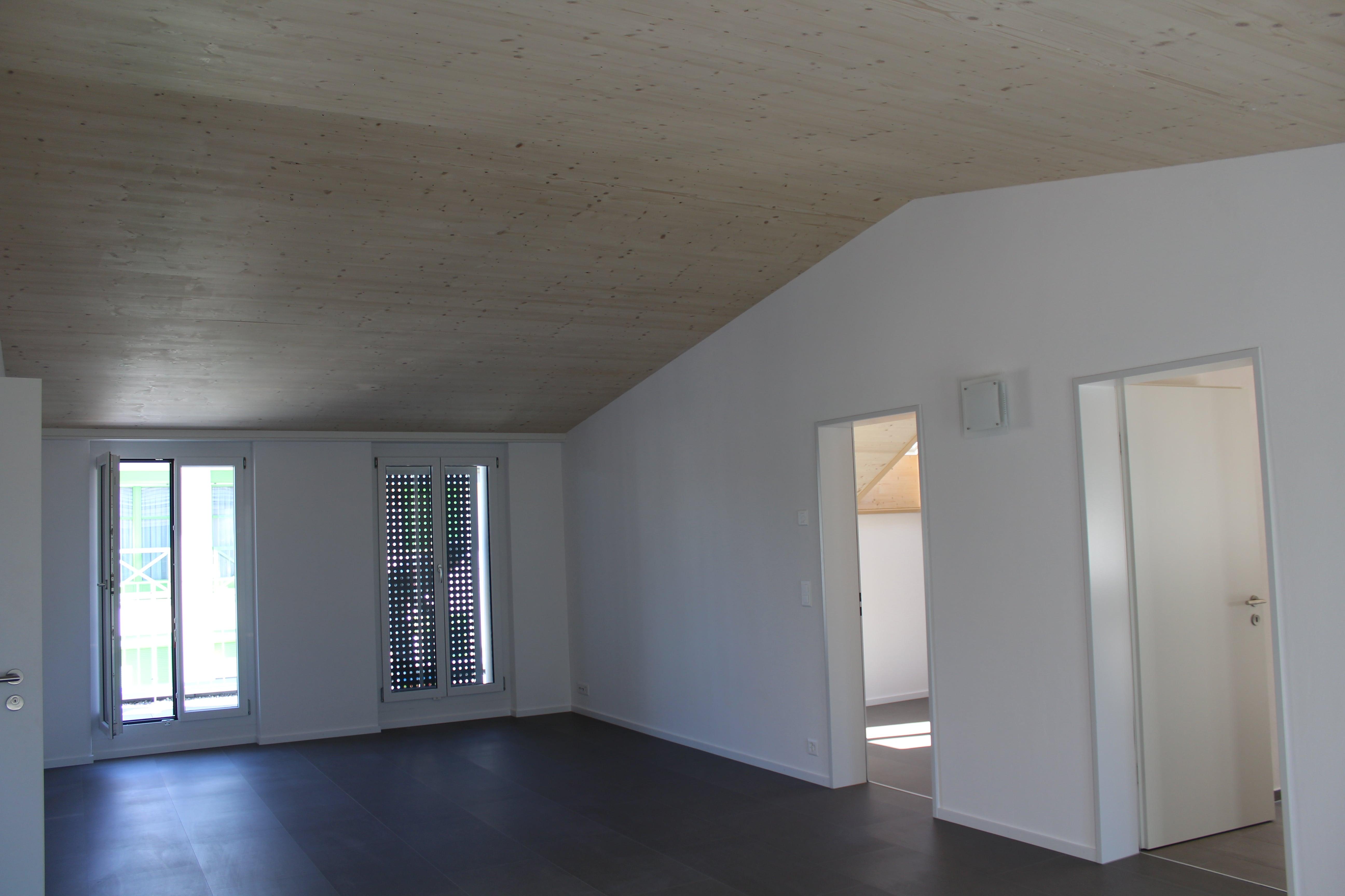 Neue Dachstöcke in Holzelementbauweise
