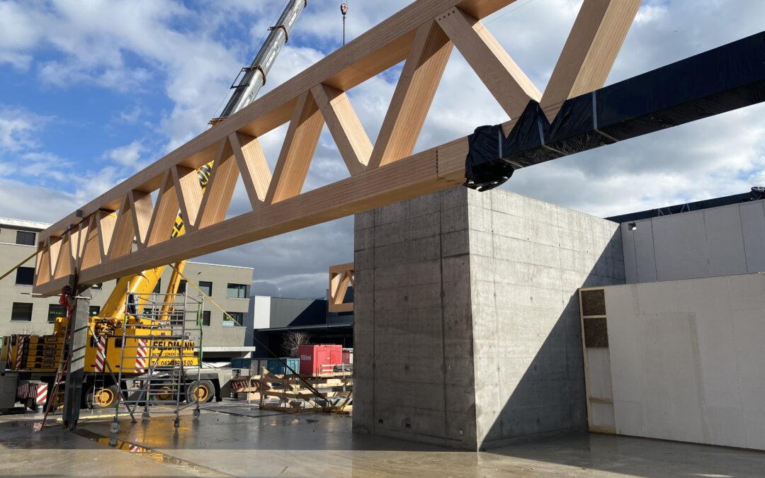 Holzbauarbeiten für die neue Filiale Migros Reichenburg