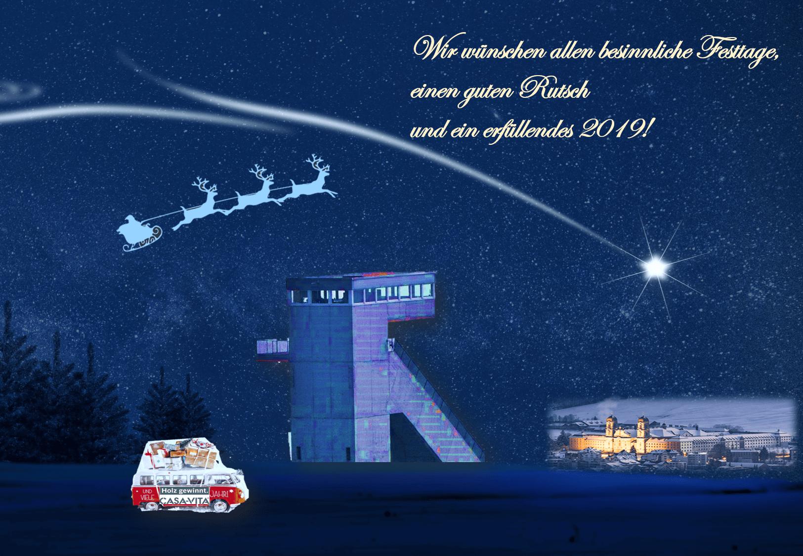 Wir wünschen allen Frohe Festtage & ein zufriedenes 2019!